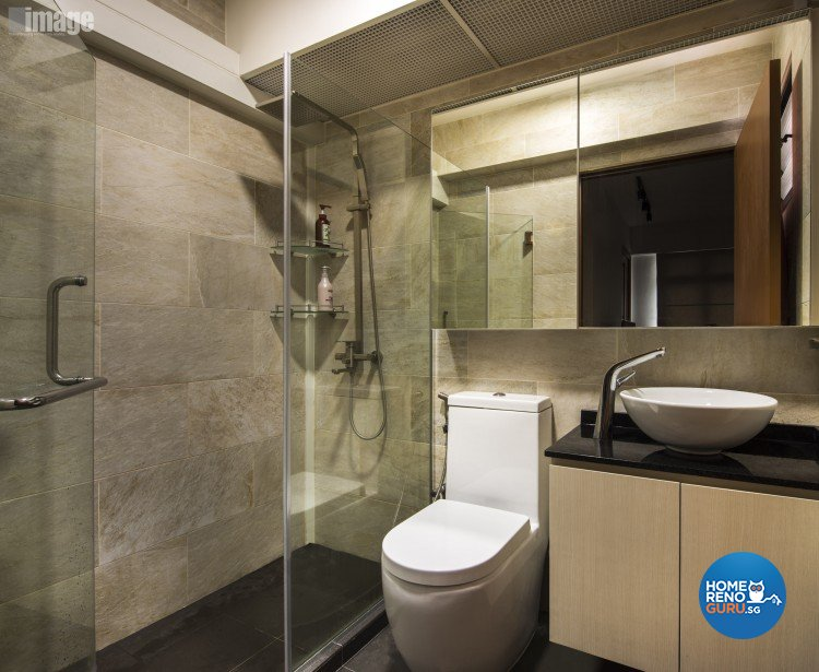 Contemporary, Modern Design - Bathroom - HDB 4 Room - Design by Image Creative Design Pte Ltd