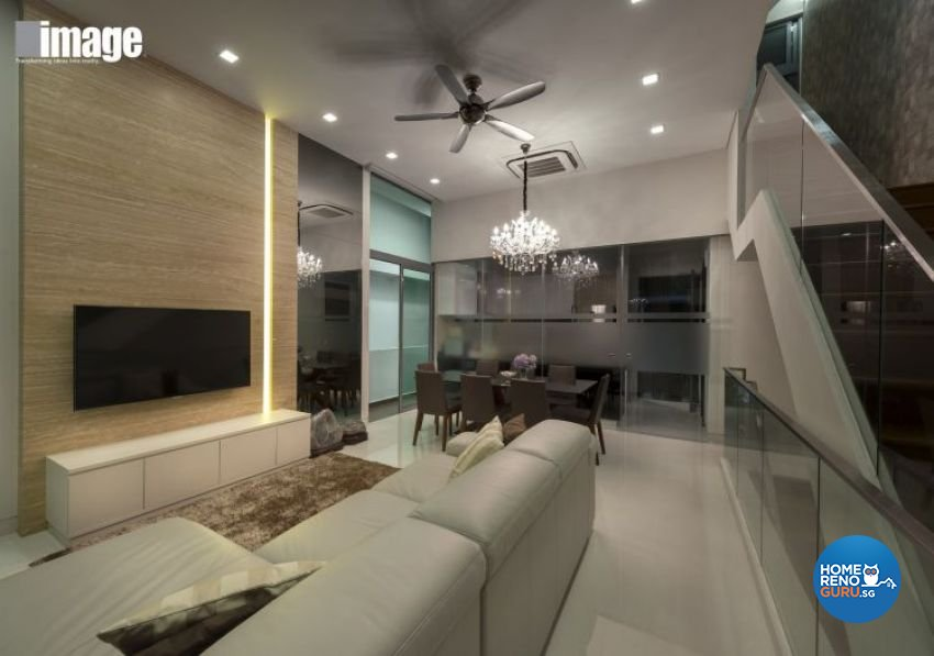 Contemporary, Modern Design - Living Room - Landed House - Design by Image Creative Design Pte Ltd