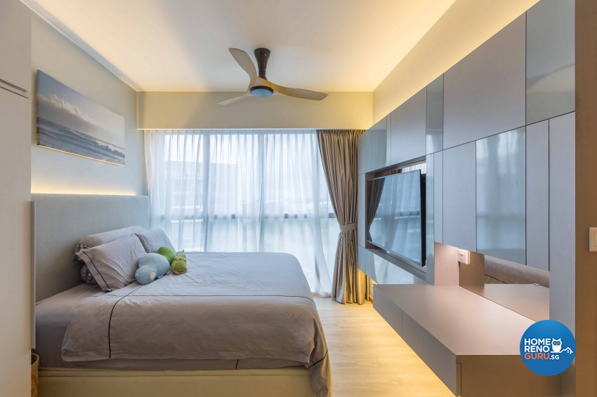 Minimalist Design - Bedroom - Condominium - Design by Image Creative Design Pte Ltd