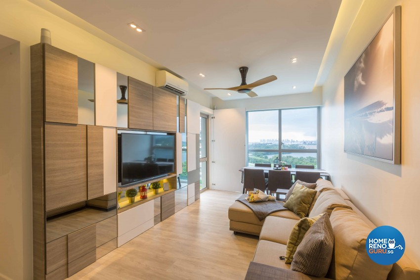 Minimalist Design - Living Room - Condominium - Design by Image Creative Design Pte Ltd