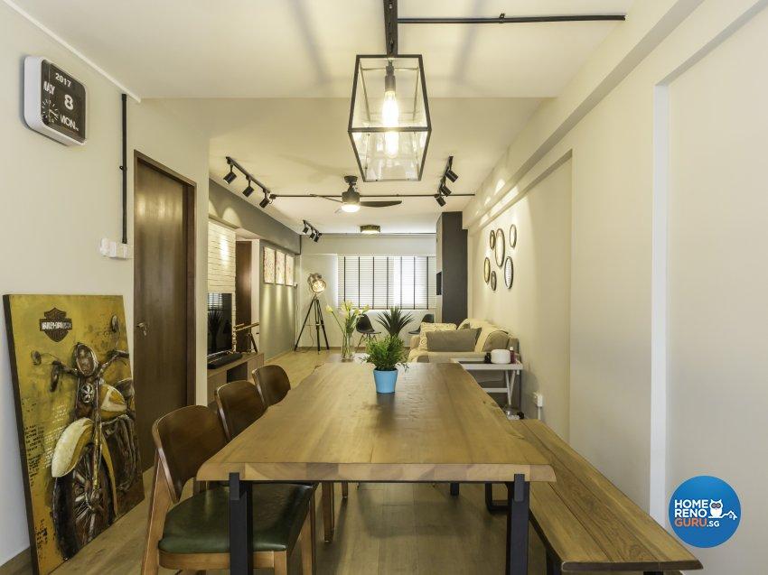 Industrial, Modern Design - Dining Room - HDB 4 Room - Design by Imposed Design