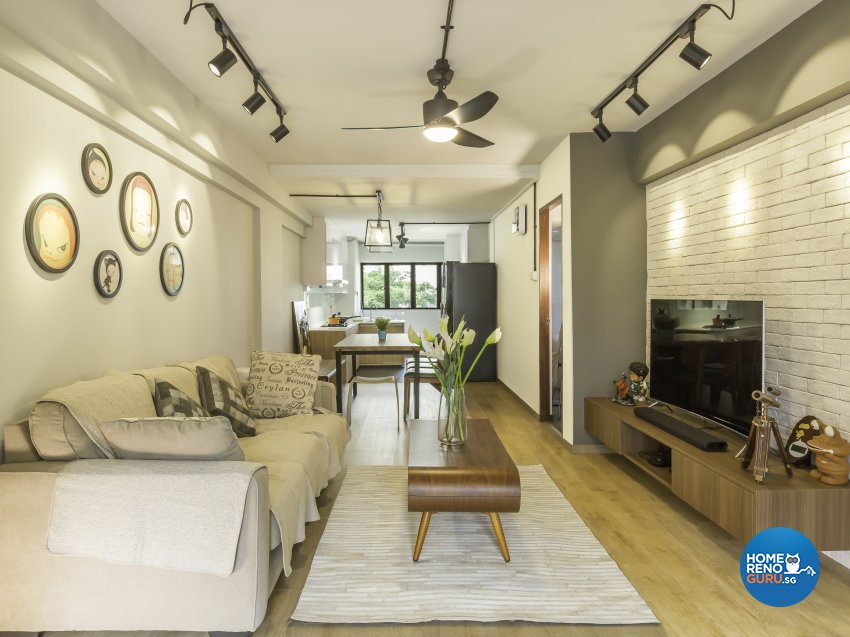 Industrial, Modern Design - Living Room - HDB 4 Room - Design by Imposed Design