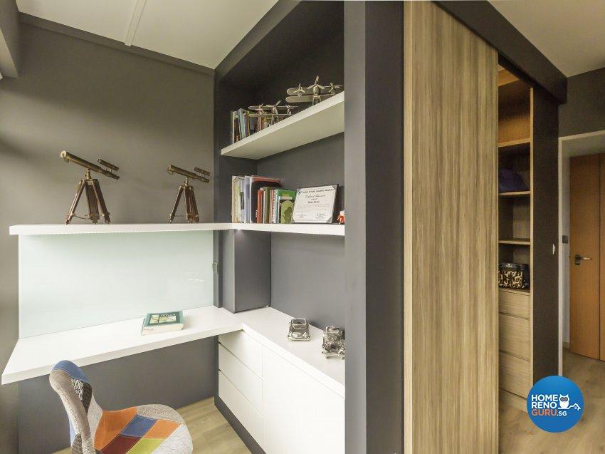 Scandinavian Design - Study Room - HDB 4 Room - Design by Imposed Design