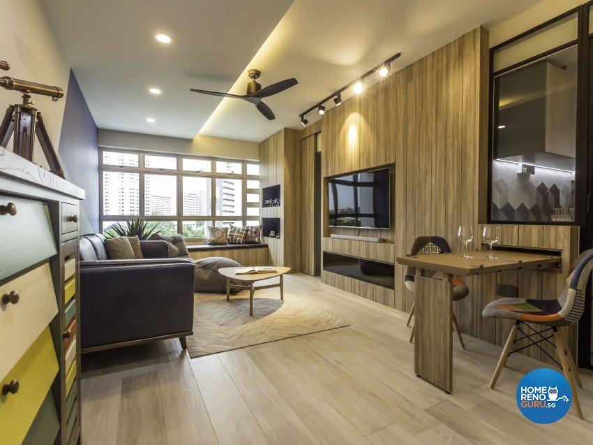 Scandinavian Design - Living Room - HDB 4 Room - Design by Imposed Design