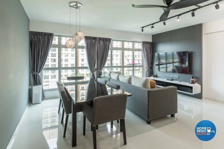 Contemporary, Modern Design - Living Room - HDB 5 Room - Design by Imposed Design