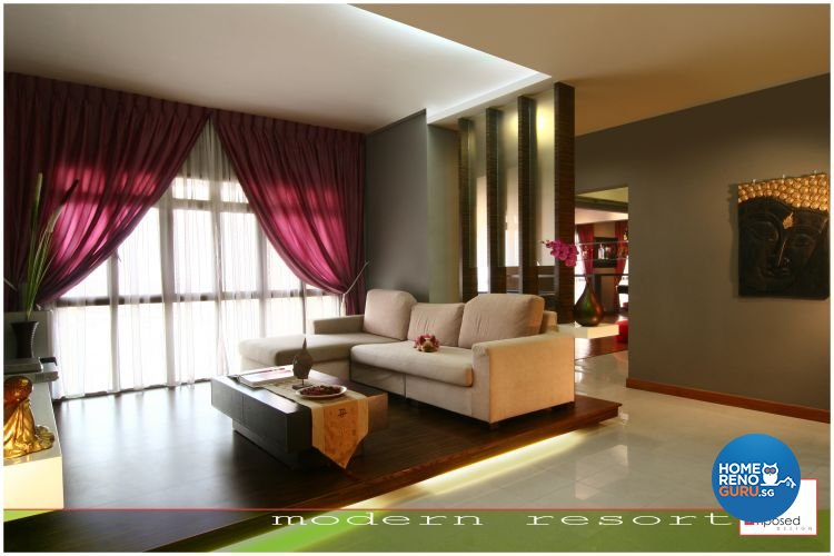 Classical, Modern, Tropical Design - Living Room - HDB 5 Room - Design by Imposed Design