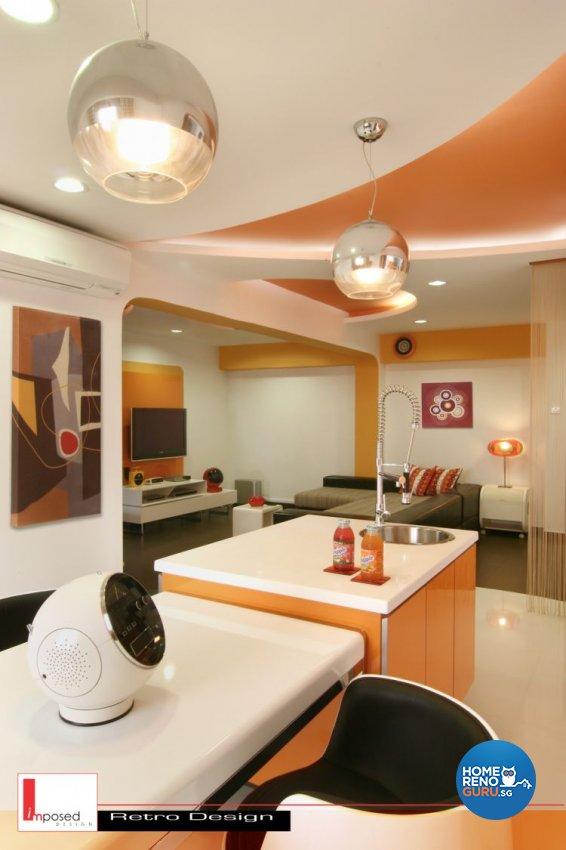 Retro Design - Kitchen - HDB 4 Room - Design by Imposed Design