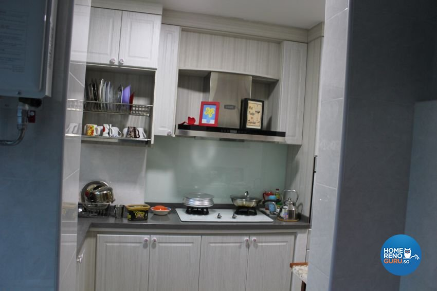Classical, Contemporary, Country Design - Kitchen - HDB 4 Room - Design by Impression Design Firm Pte Ltd