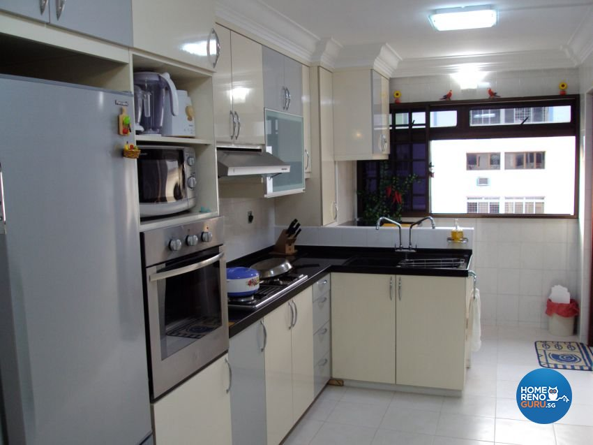 Classical, Contemporary, Rustic Design - Kitchen - HDB 4 Room - Design by Impression Design Firm Pte Ltd