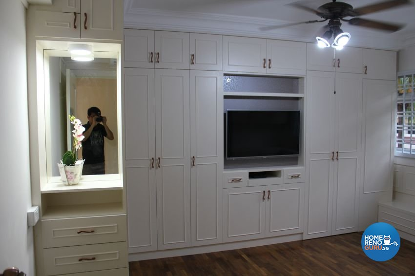 Classical Design - Bedroom - HDB Executive Apartment - Design by Impression Design Firm Pte Ltd