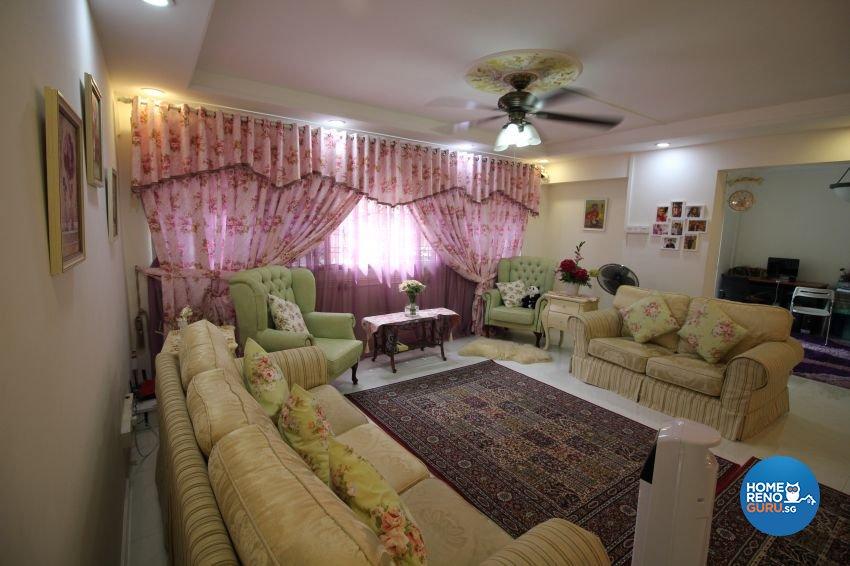 Classical Design - Living Room - HDB Executive Apartment - Design by Impression Design Firm Pte Ltd