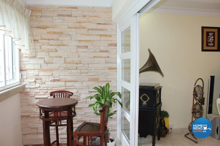 Classical, Contemporary, Country Design - Balcony - HDB Executive Apartment - Design by Impression Design Firm Pte Ltd
