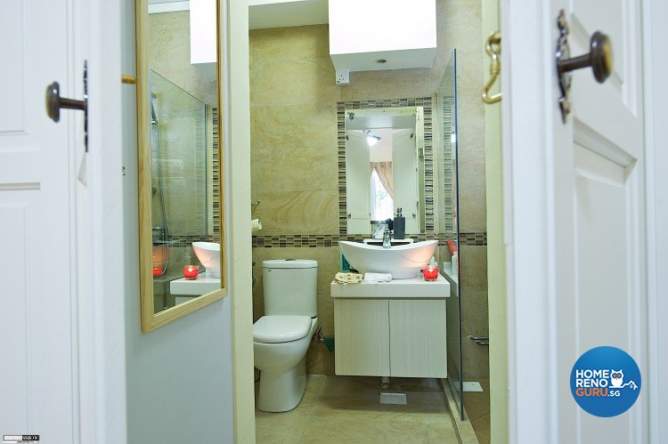 Classical, Contemporary, Country Design - Bathroom - HDB Executive Apartment - Design by Impression Design Firm Pte Ltd
