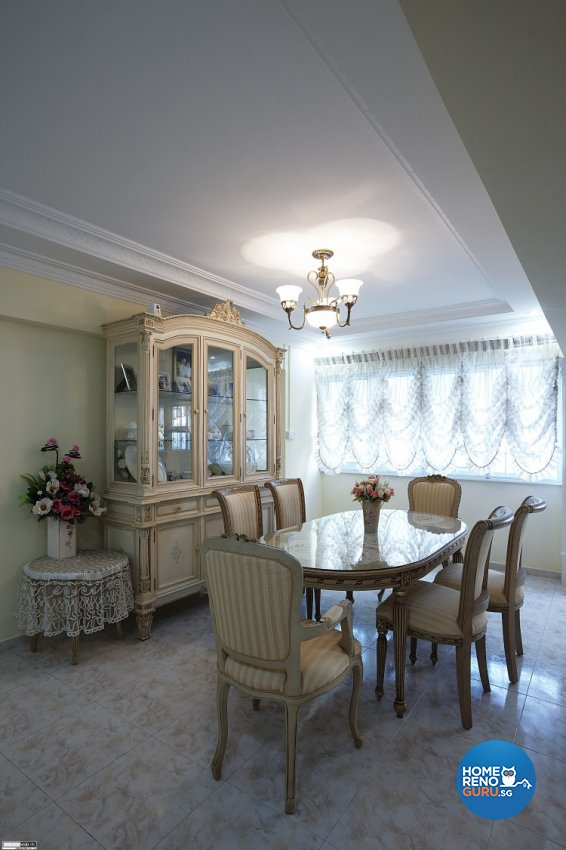 Classical, Contemporary, Country Design - Dining Room - HDB Executive Apartment - Design by Impression Design Firm Pte Ltd