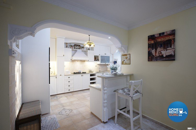 Classical, Contemporary, Country Design - Kitchen - HDB Executive Apartment - Design by Impression Design Firm Pte Ltd