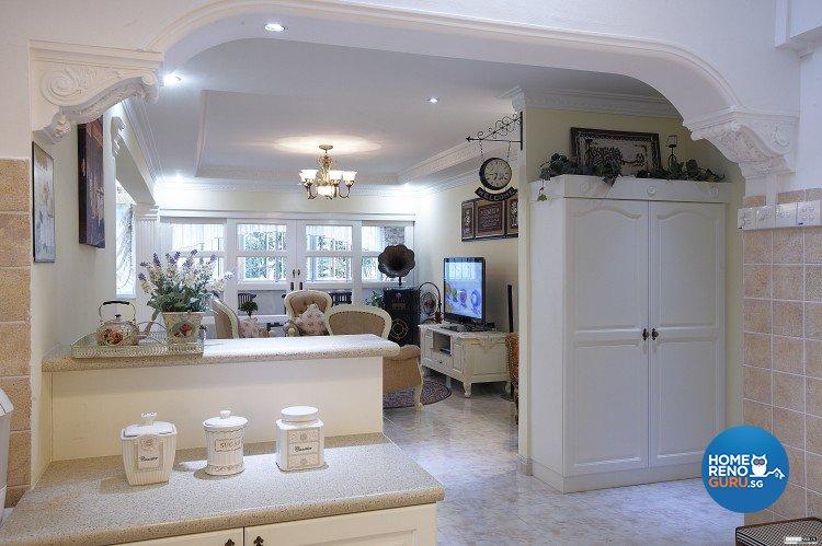 Classical, Contemporary, Country Design - Living Room - HDB Executive Apartment - Design by Impression Design Firm Pte Ltd