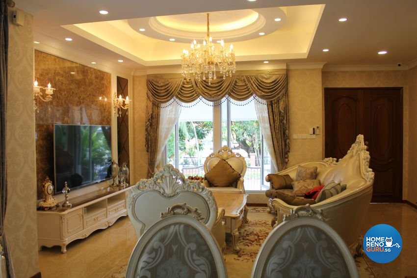 Classical, Contemporary, Victorian Design - Living Room - Landed House - Design by Impression Design Firm Pte Ltd
