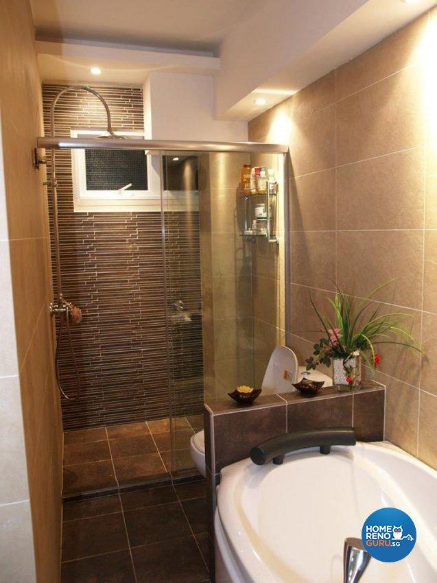 Country, Victorian Design - Bathroom - HDB Executive Apartment - Design by Impression Design Firm Pte Ltd