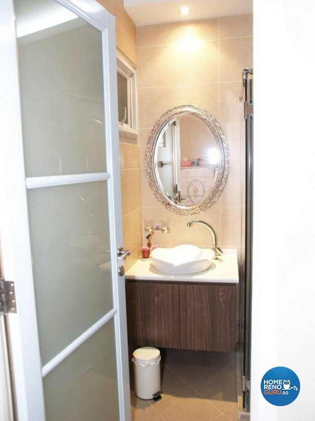 Country, Victorian Design - Bathroom - HDB Executive Apartment - Design by Impression Design Firm Pte Ltd