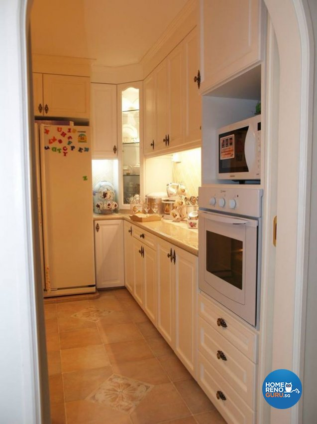 Country, Victorian Design - Kitchen - HDB Executive Apartment - Design by Impression Design Firm Pte Ltd