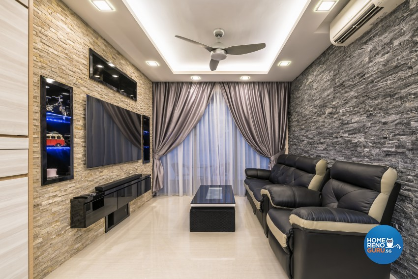 Contemporary, Modern Design - Living Room - HDB 3 Room - Design by In2Space Interior Pte Ltd