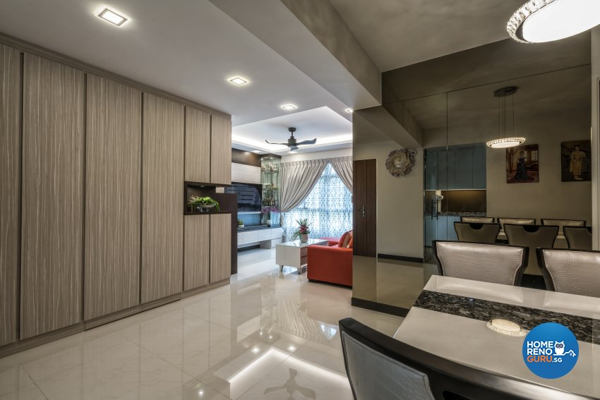 Contemporary, Modern Design - Dining Room - HDB 4 Room - Design by In2Space Interior Pte Ltd