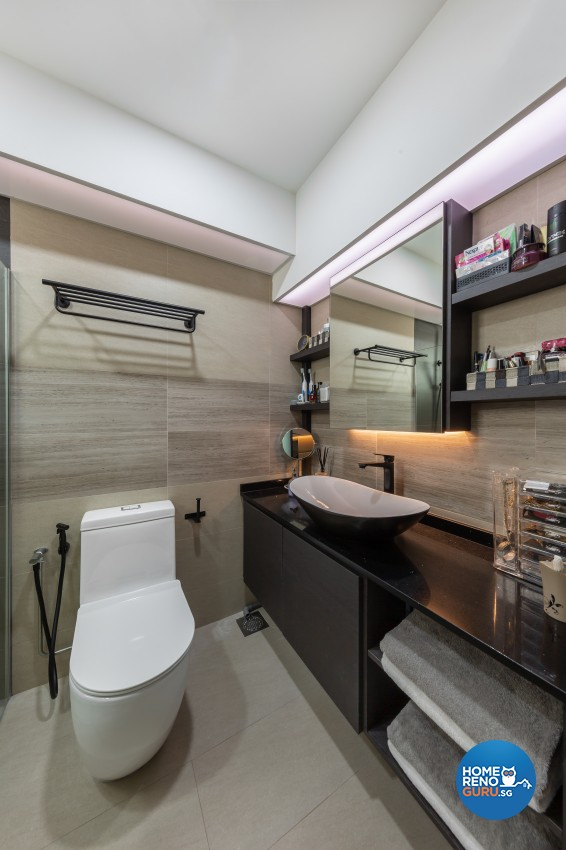 Contemporary, Modern Design - Bathroom - HDB 4 Room - Design by In2Space Interior Pte Ltd