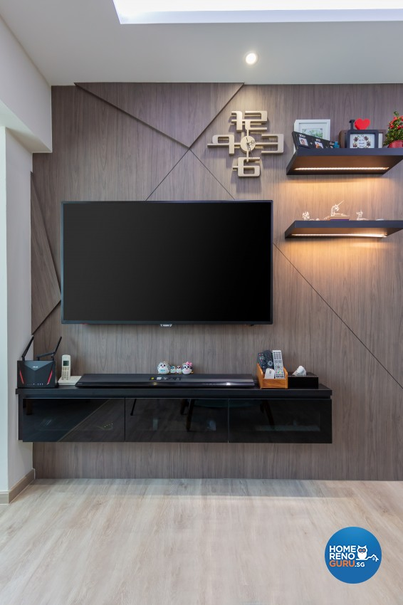 Contemporary, Modern Design - Living Room - HDB 4 Room - Design by In2Space Interior Pte Ltd