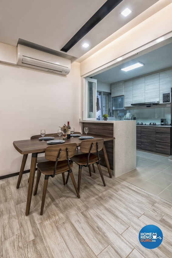 Contemporary, Minimalist, Modern Design - Dining Room - HDB 5 Room - Design by In2Space Interior Pte Ltd