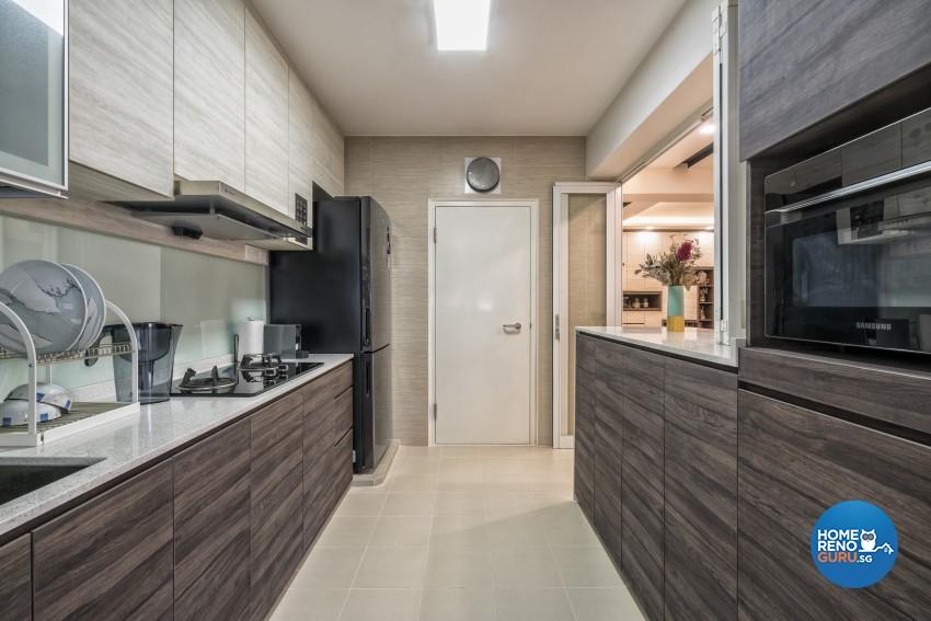 Contemporary, Minimalist, Modern Design - Kitchen - HDB 5 Room - Design by In2Space Interior Pte Ltd