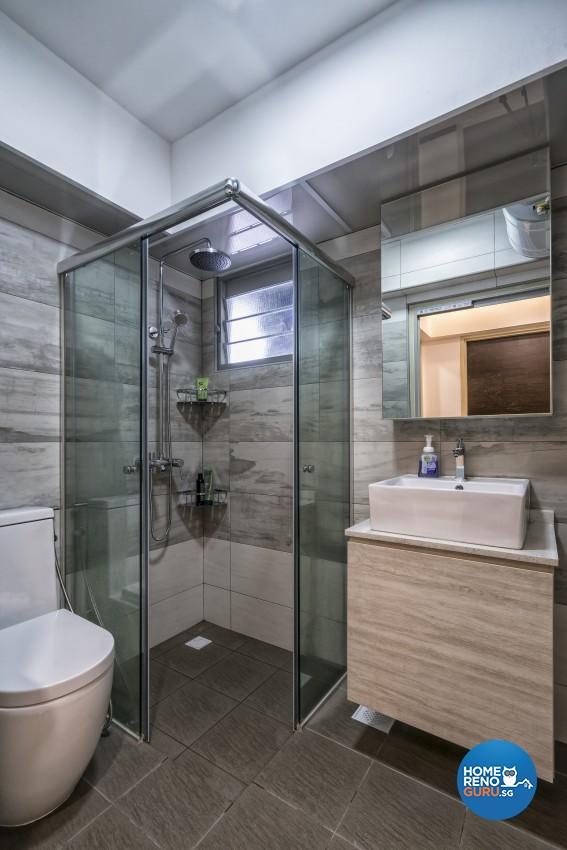 Contemporary, Minimalist, Modern Design - Bathroom - HDB 5 Room - Design by In2Space Interior Pte Ltd