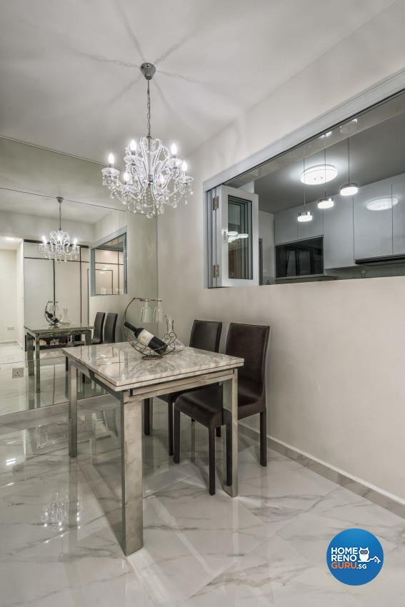 Contemporary, Modern, Victorian Design - Dining Room - HDB 4 Room - Design by In2Space Interior Pte Ltd