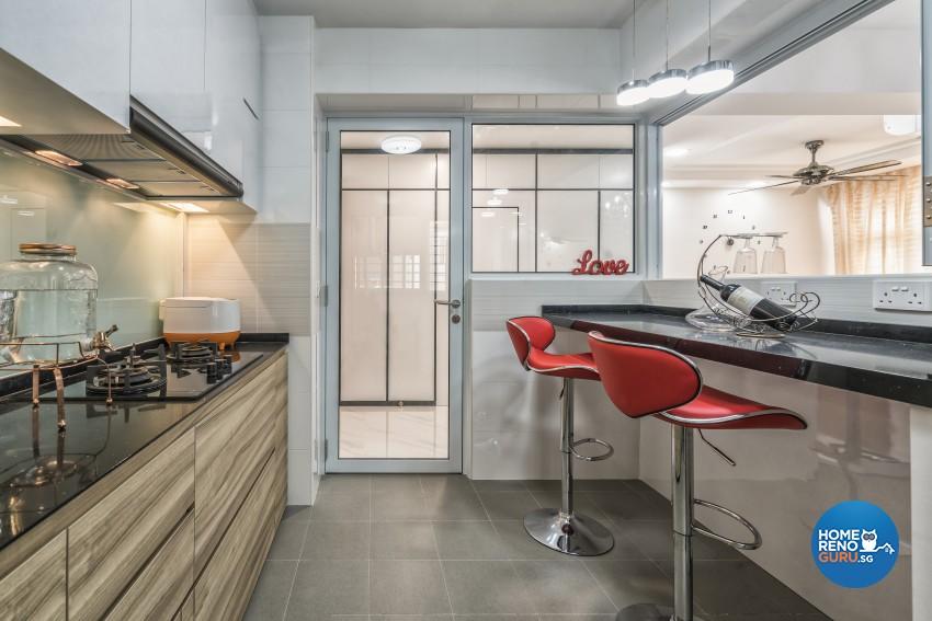 Contemporary, Modern, Victorian Design - Kitchen - HDB 4 Room - Design by In2Space Interior Pte Ltd