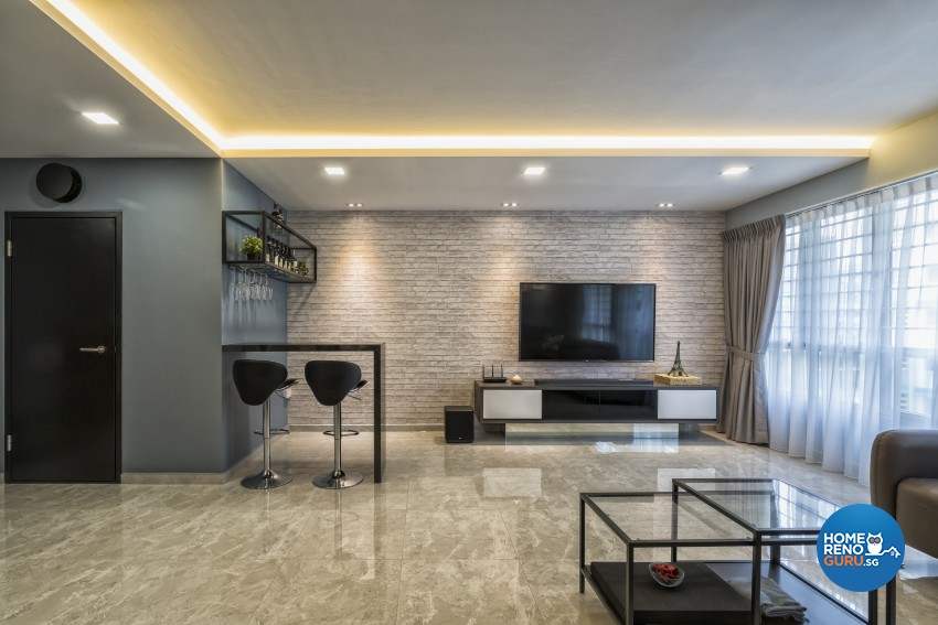 Contemporary, Modern Design - Living Room - HDB 5 Room - Design by In2Space Interior Pte Ltd