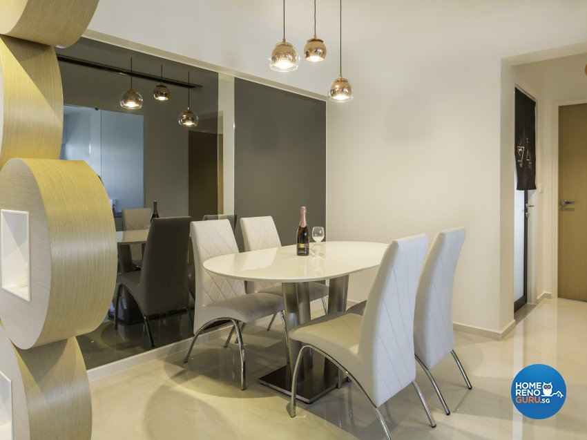 Contemporary, Modern Design - Dining Room - HDB 5 Room - Design by In2Space Interior Pte Ltd