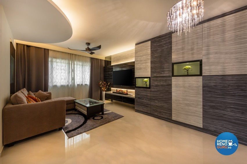 Modern Design - Living Room - HDB 4 Room - Design by In2Space Interior Pte Ltd