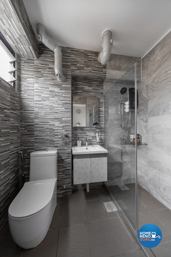 Modern Design - Bathroom - HDB 4 Room - Design by In2Space Interior Pte Ltd