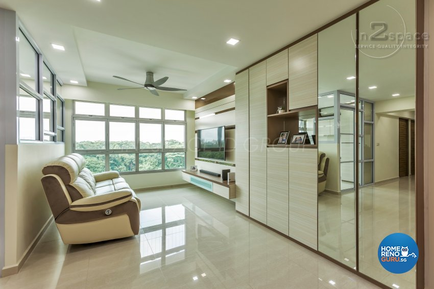 Contemporary, Minimalist, Modern Design - Living Room - HDB 5 Room - Design by In2Space Interior Pte Ltd