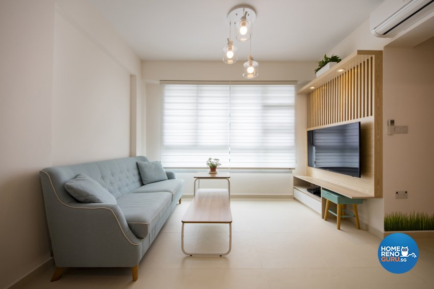 Contemporary, Minimalist, Vintage Design - Living Room - HDB 3 Room - Design by In2Space Interior Pte Ltd