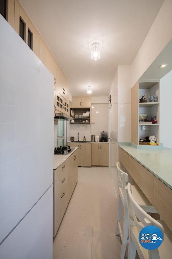 Contemporary, Minimalist, Vintage Design - Kitchen - HDB 3 Room - Design by In2Space Interior Pte Ltd