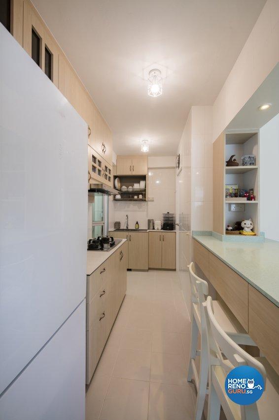 Contemporary, Minimalist, Vintage Design - Kitchen - HDB 3 Room - Design by In2Space Interior Pte Ltd