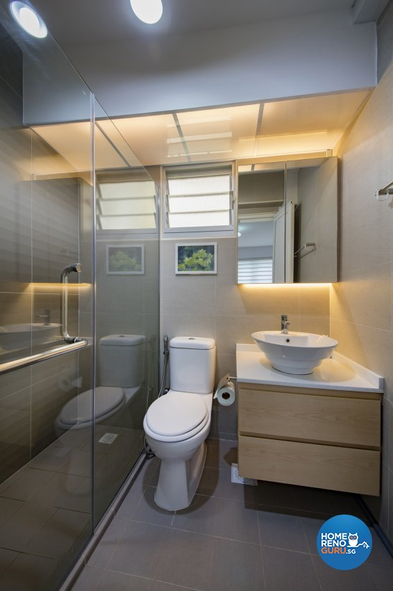 Contemporary, Minimalist, Vintage Design - Bathroom - HDB 3 Room - Design by In2Space Interior Pte Ltd