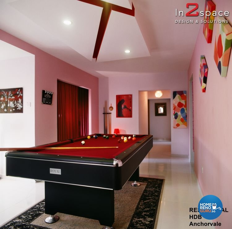 Eclectic, Modern Design - Entertainment Room - HDB Executive Apartment - Design by In2Space Interior Pte Ltd