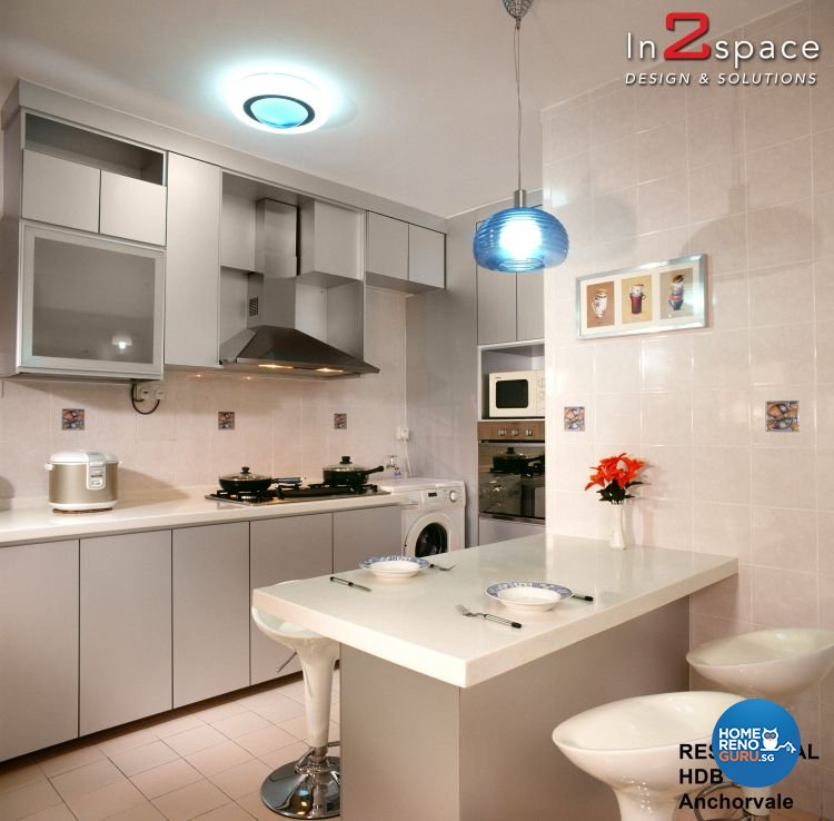 Eclectic, Modern Design - Kitchen - HDB Executive Apartment - Design by In2Space Interior Pte Ltd