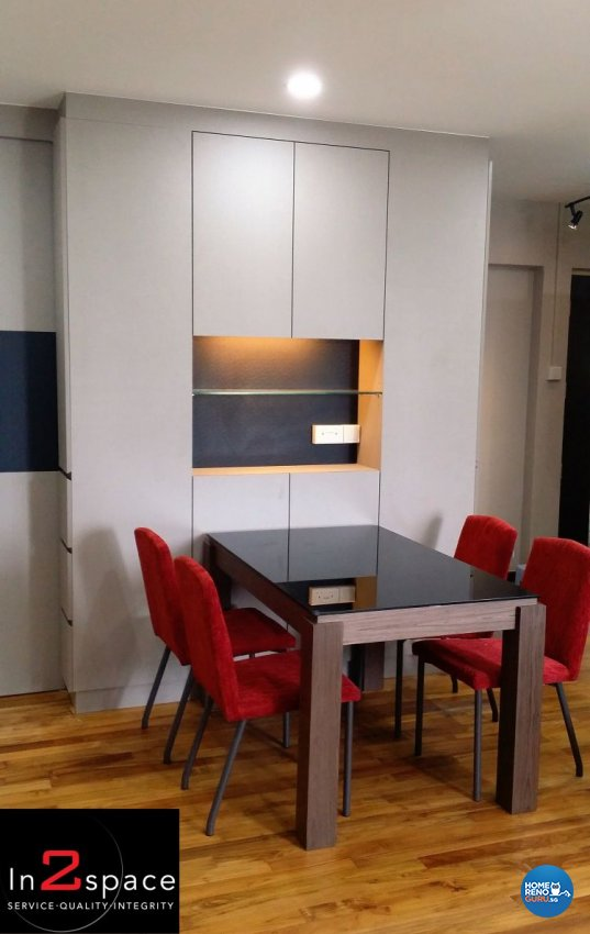Contemporary, Modern Design - Dining Room - HDB Executive Apartment - Design by In2Space Interior Pte Ltd