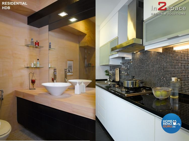 Modern, Resort, Tropical Design - Kitchen - HDB Executive Apartment - Design by In2Space Interior Pte Ltd