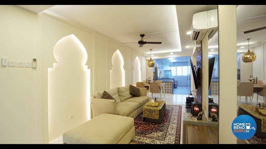 Resort, Tropical Design - Living Room - HDB 3 Room - Design by ING Designers Pte Ltd