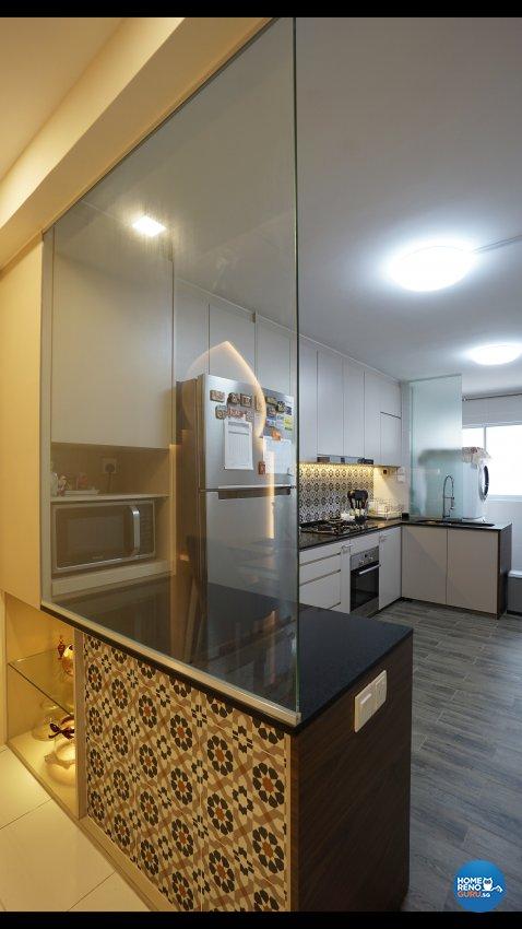 Resort, Tropical Design - Kitchen - HDB 3 Room - Design by ING Designers Pte Ltd