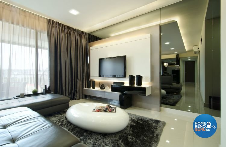 Contemporary, Modern Design - Living Room - Condominium - Design by Inner View Design & Contracts Pte Ltd