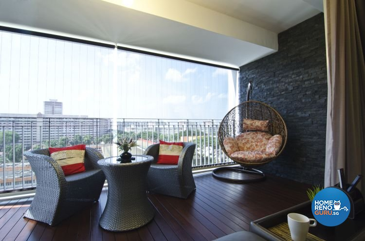 Contemporary, Modern Design - Balcony - Condominium - Design by Inner View Design & Contracts Pte Ltd